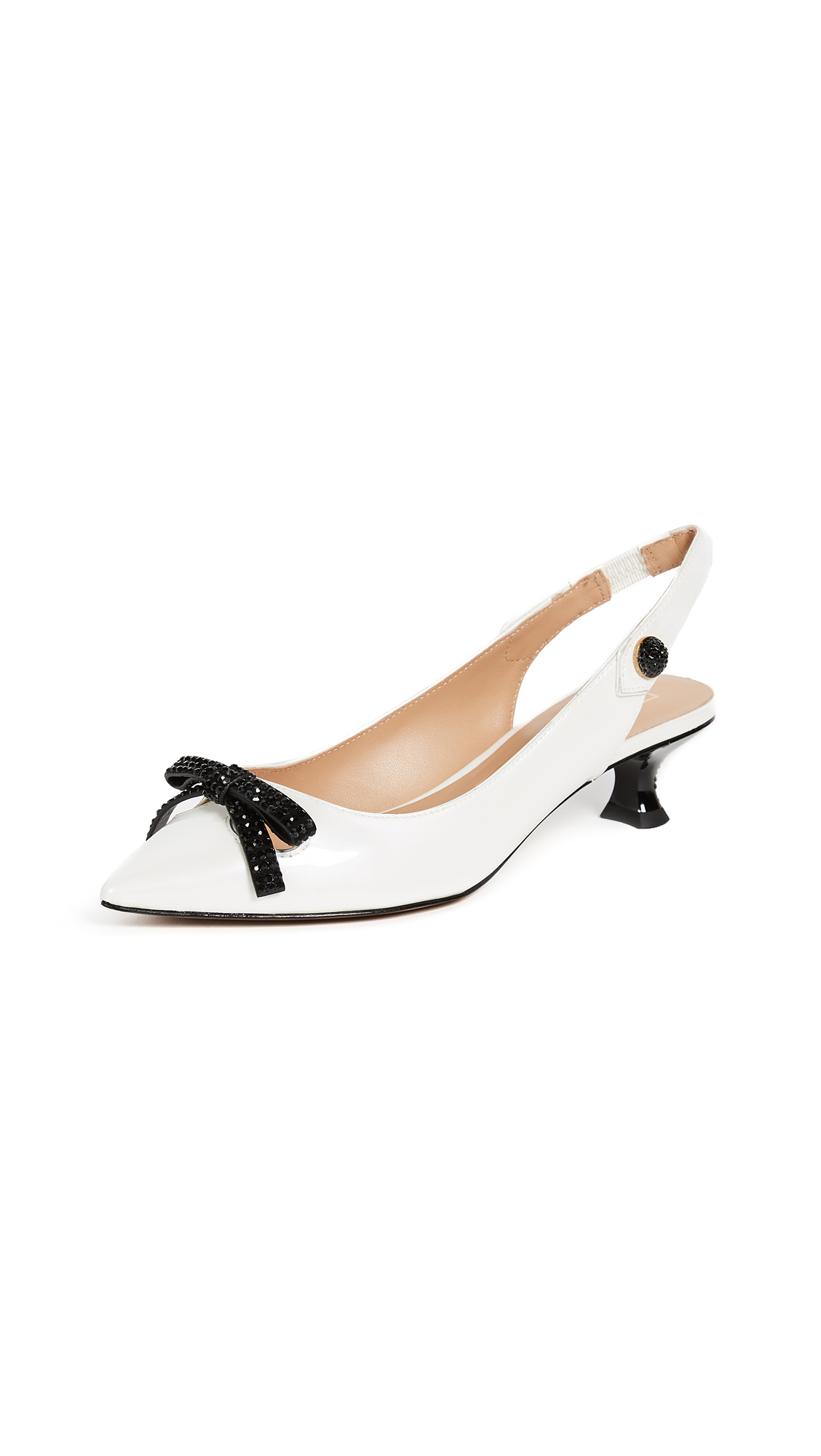 Marc Jacobs Abbey Slingback Pumps - White