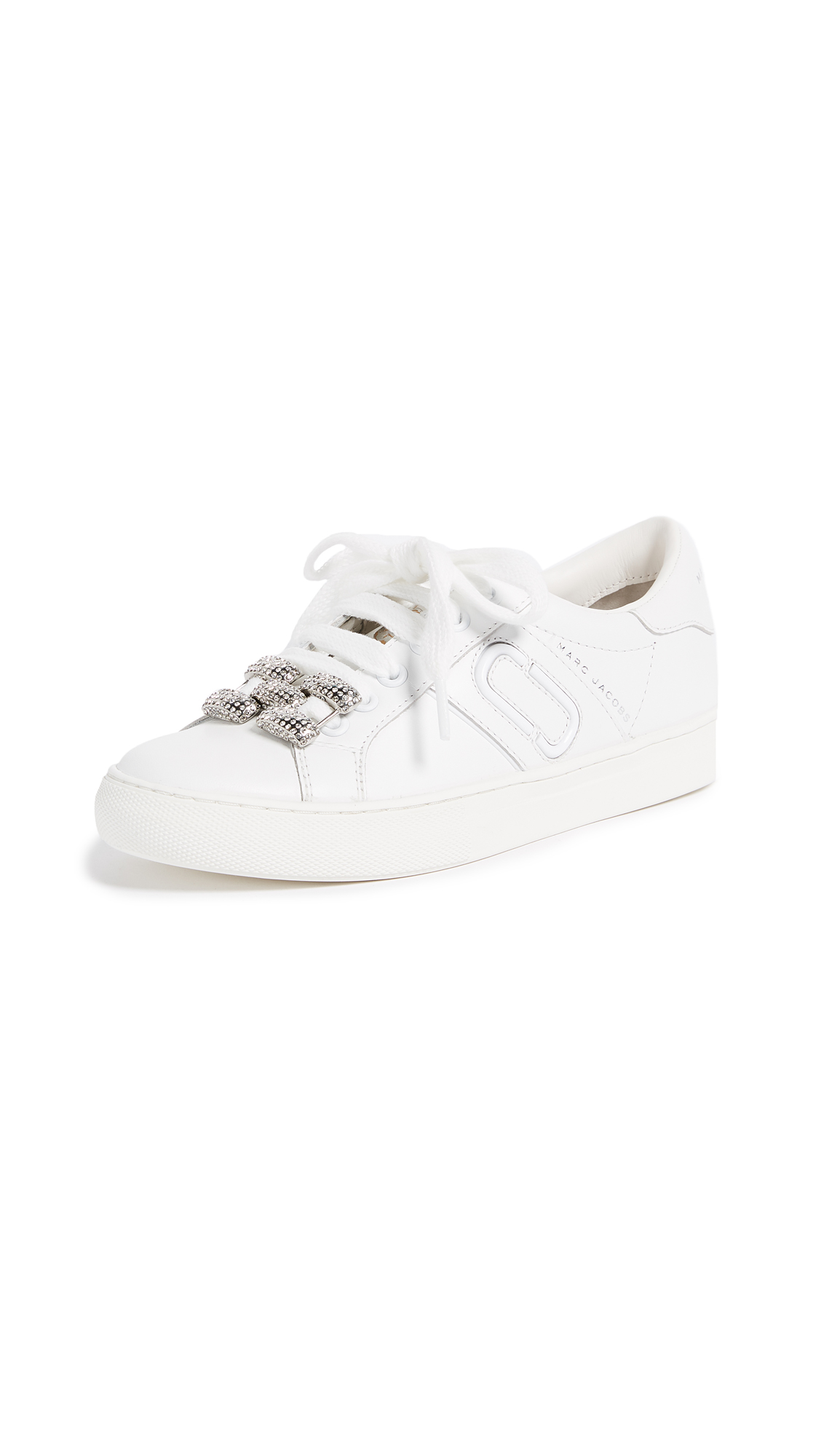 Marc Jacobs Empire Chain Link Sneakers - White