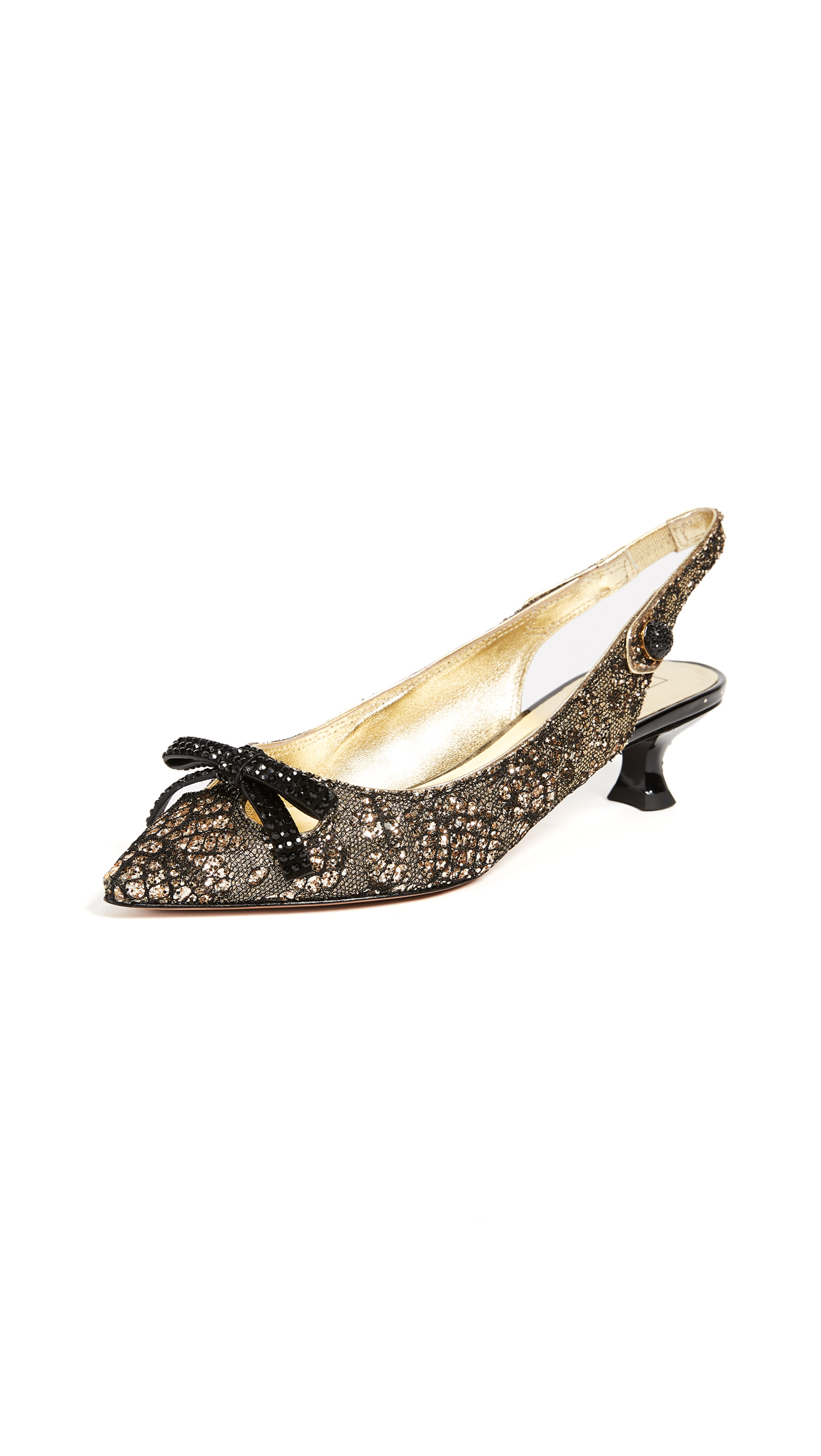 Marc Jacobs Abbey Slingback Pumps - Gold