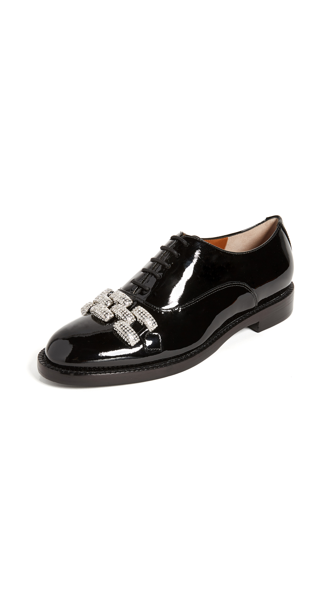 Marc Jacobs Dara Chain Link Oxfords - Black