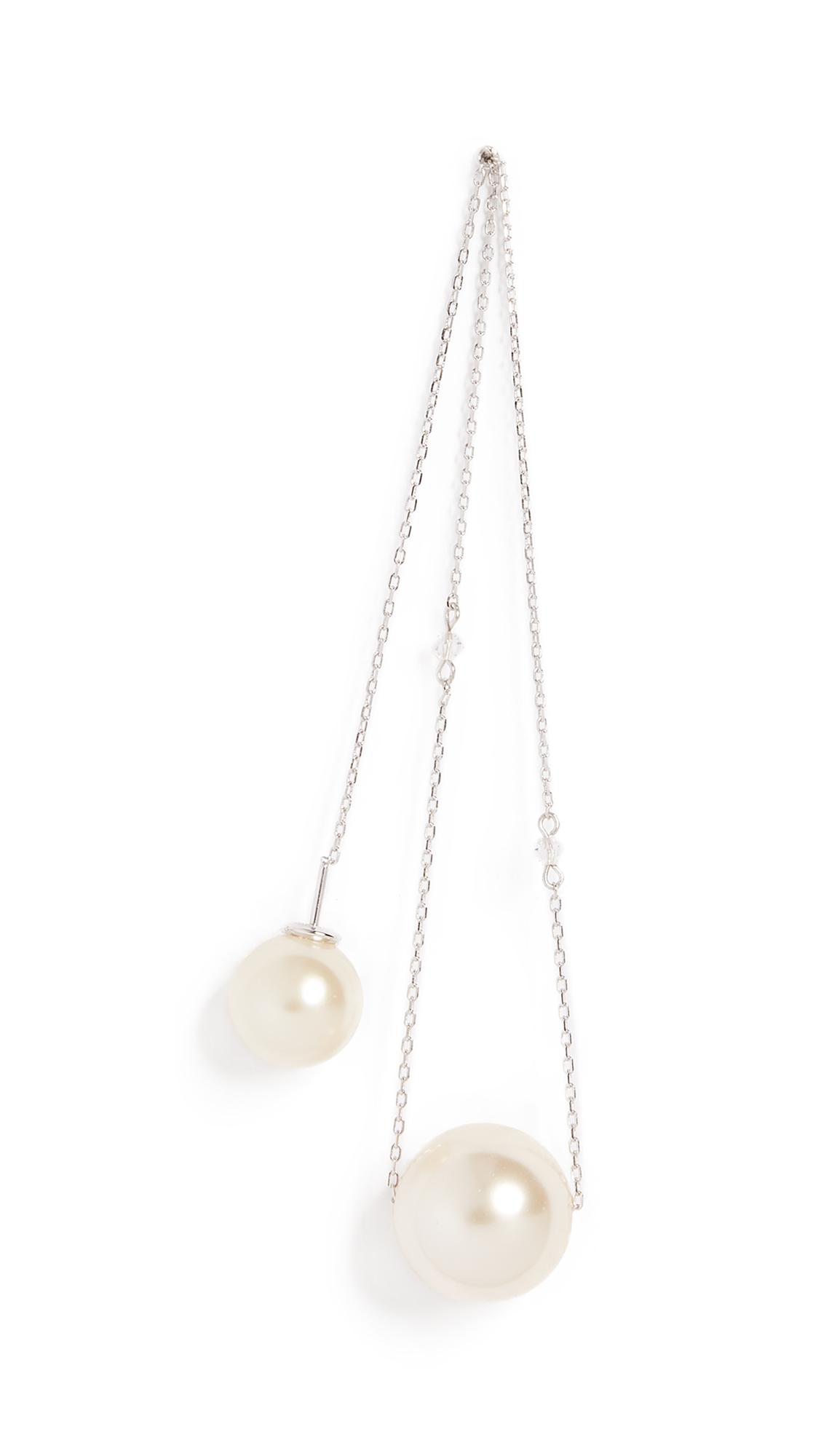 Marc Jacobs Single Pearl Chain Drop Earring