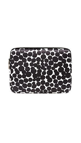 "Marc Jacobs 13"" Computer Case with Painted Dots In Black Multi"