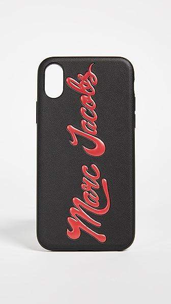 Купить Marc Jacobs Глянцевый чехол Marc с тиснением для iPhone X черный мульти