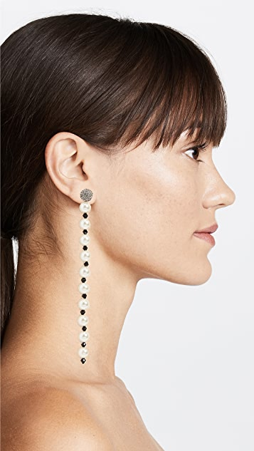 Marc Jacobs Single Crystal Long Pearl Drop Earring
