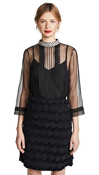 Marc Jacobs Pintuck Top with Pleating at Shopbop