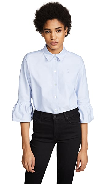 Marc Jacobs Button Down with Ruffle Sleeve at Shopbop