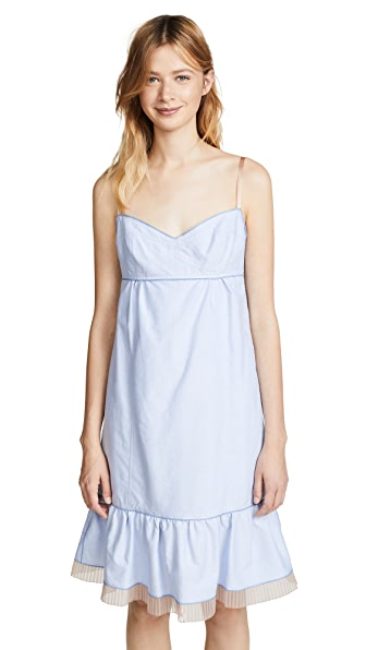 Marc Jacobs Strappy Dress with Hem Ruffle at Shopbop