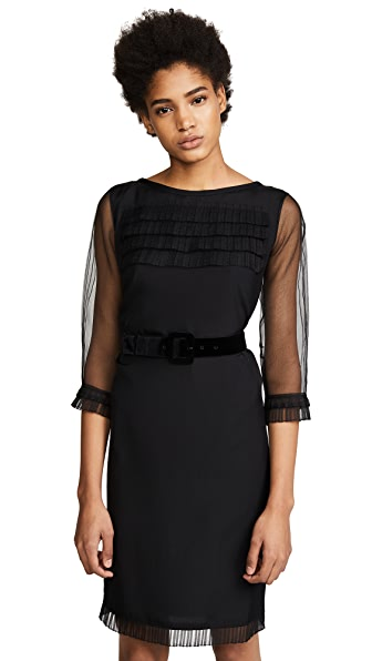 Marc Jacobs Long Sleeve Dress with Ruffles & Belt at Shopbop