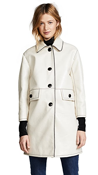 Marc Jacobs Balmacaan Coat with Piping at Shopbop
