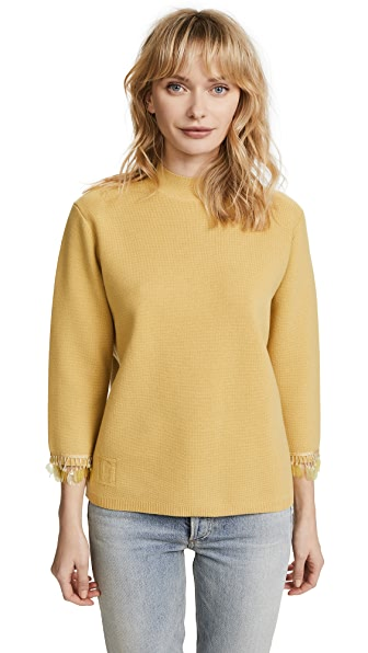 Marc Jacobs Mock Neck Sweater In Pale Yellow