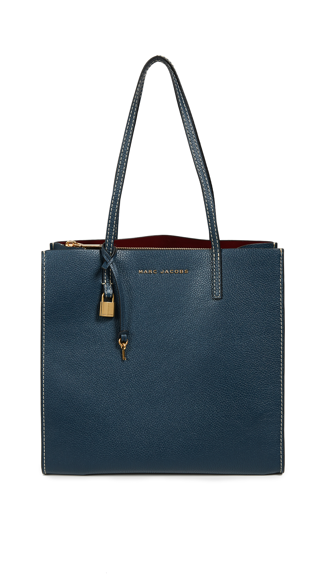 Marc Jacobs The Grind Shopper Tote Bag - Blue Sea