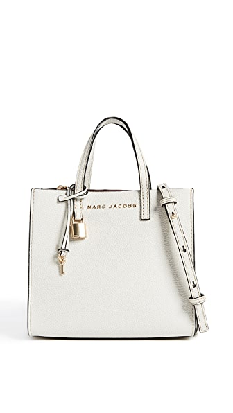 Mini The Grind Metallic Leather Tote - Metallic in Neutrals