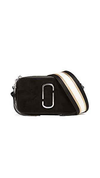 Marc Jacobs Snapshot Pave Chain Cross Body Bag In Black