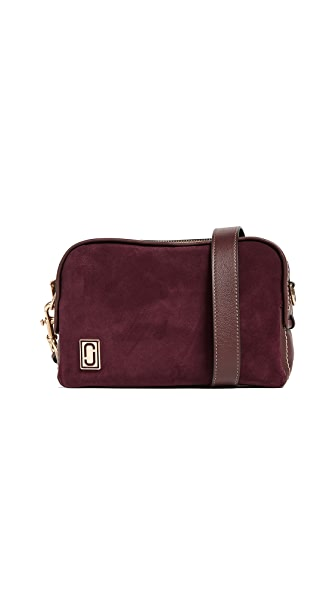Marc Jacobs The Squeeze Cross Body Bag In Burgundy