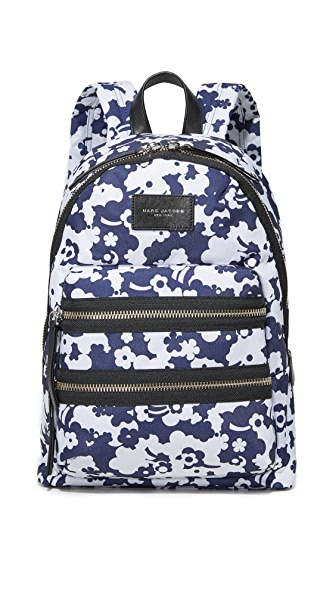 Marc Jacobs Blue Moon Printed Biker Backpack In Blue Multi