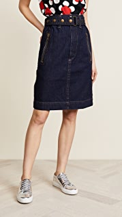 The Marc Jacobs Denim Skirt with Zip Pockets