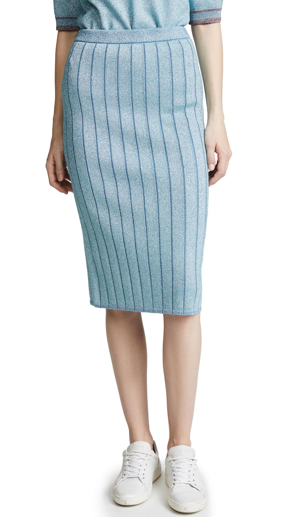 Marc Jacobs Metallic Pencil Skirt