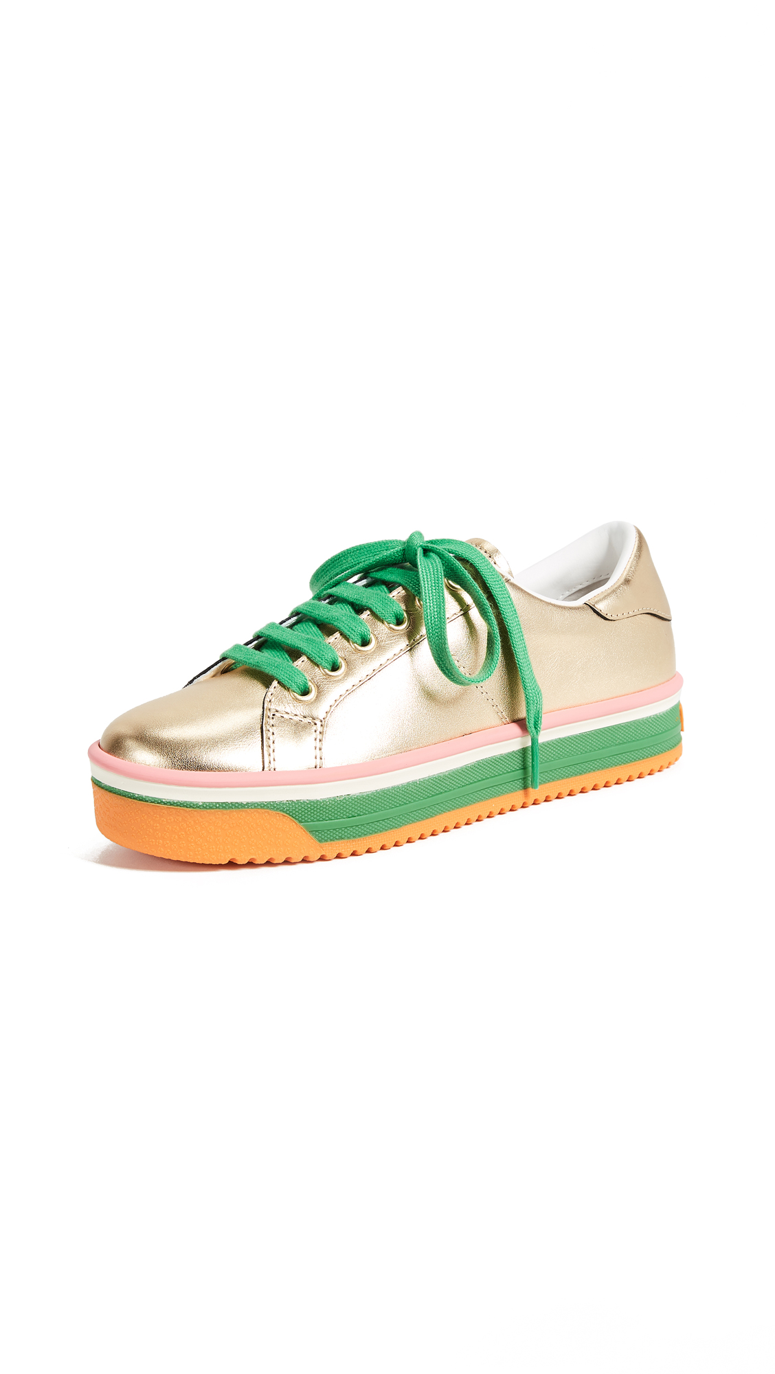 Marc Jacobs Empire Multi Color Sole Sneakers - Gold/Green Multi