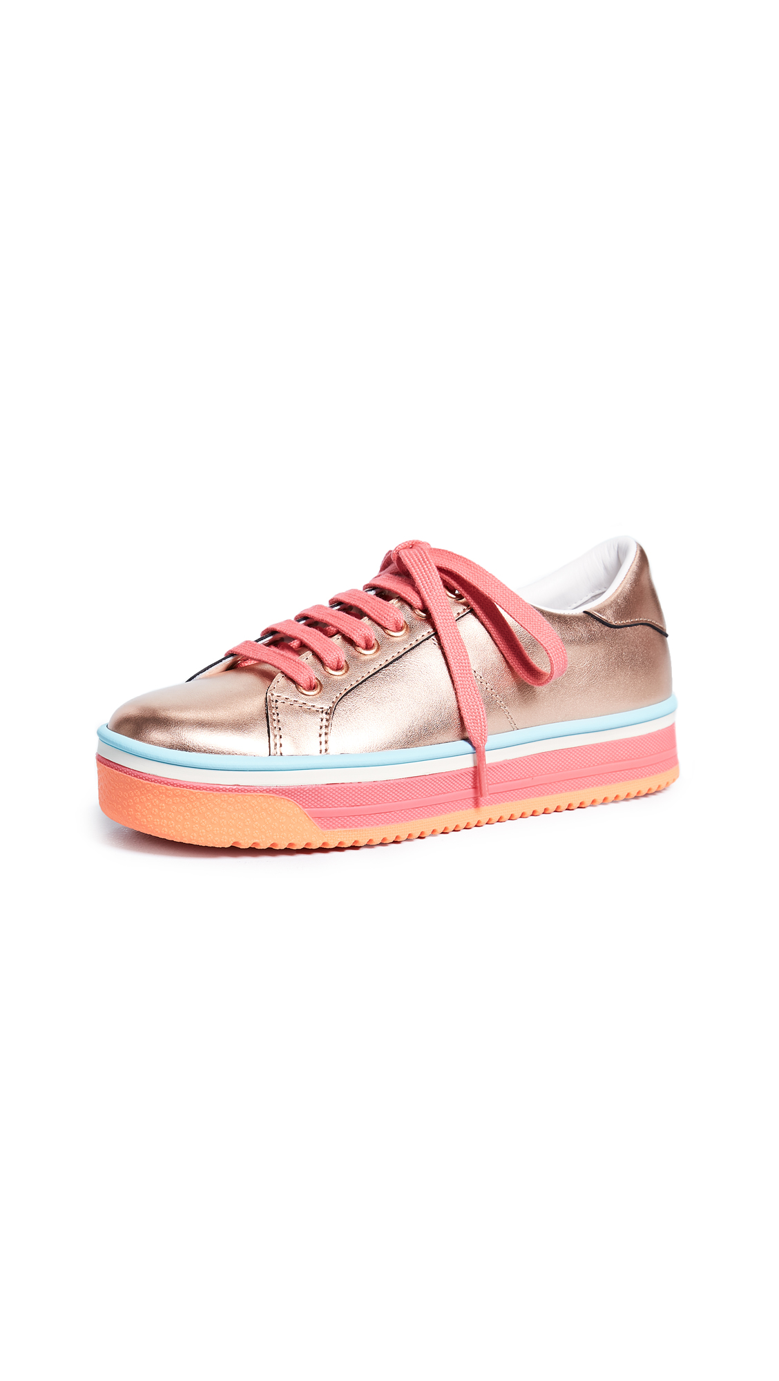 Marc Jacobs Empire Multi Color Sole Sneakers - Rose Gold/Hot Pink Multi