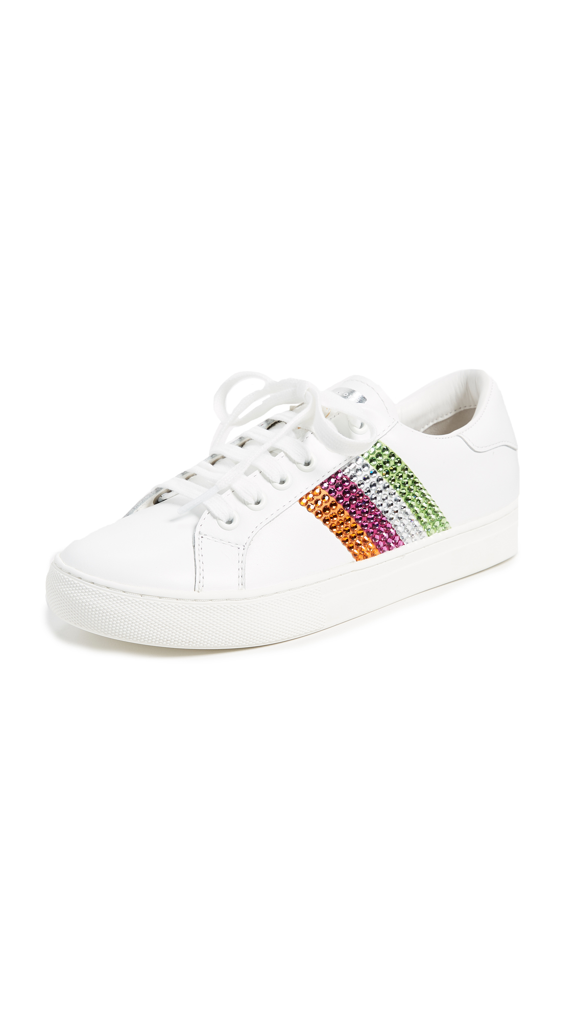 Marc Jacobs Empire Strass Low Top Sneakers - Pink Multi