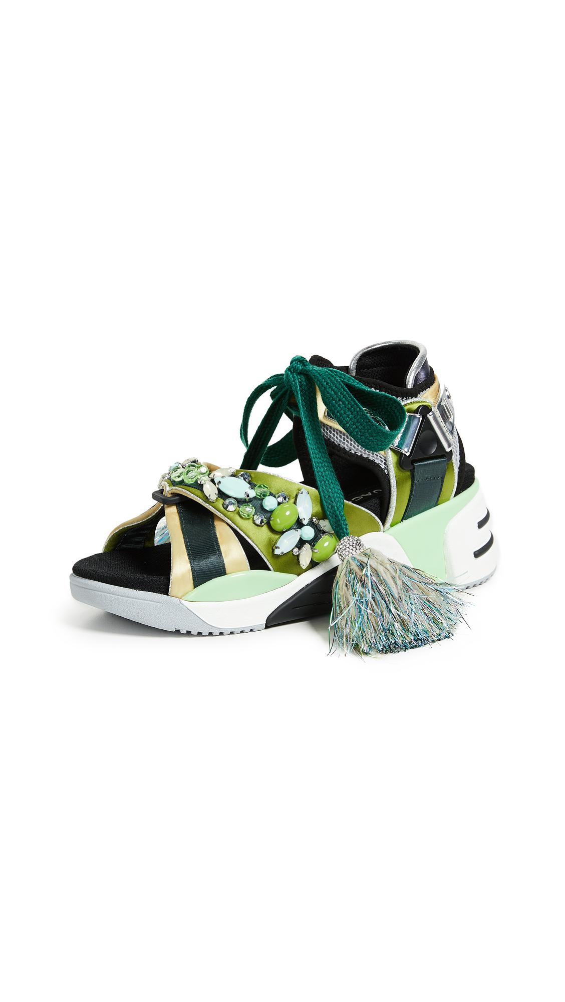 Marc Jacobs Somewhere Embellished Sport Sandals - Green Multi