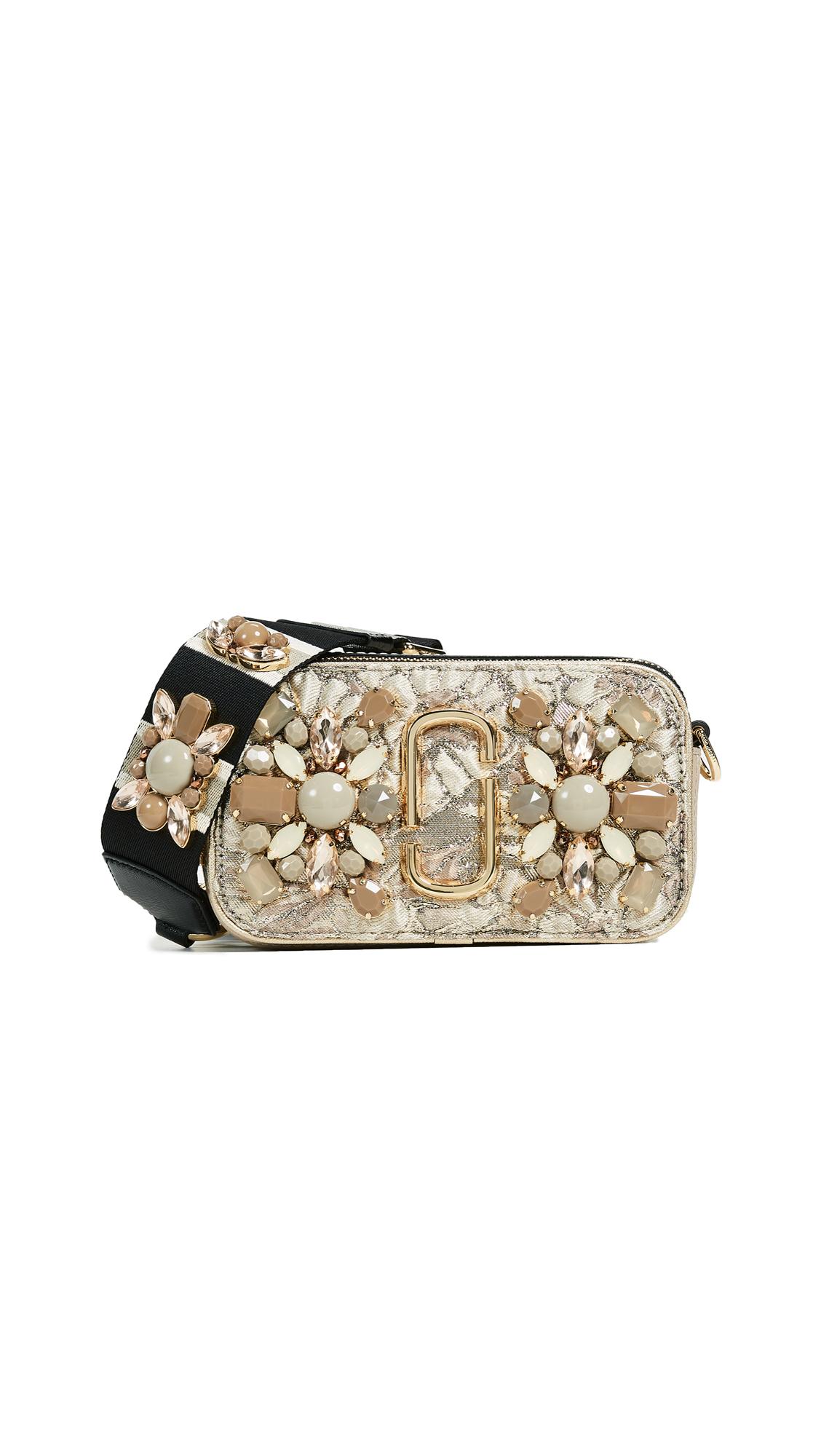 Marc Jacobs Snapshot Camera Bag in Floral Brocade - Beige Multi