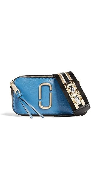 Marc Jacobs Snapshot II Bag In Vintage Blue Multi