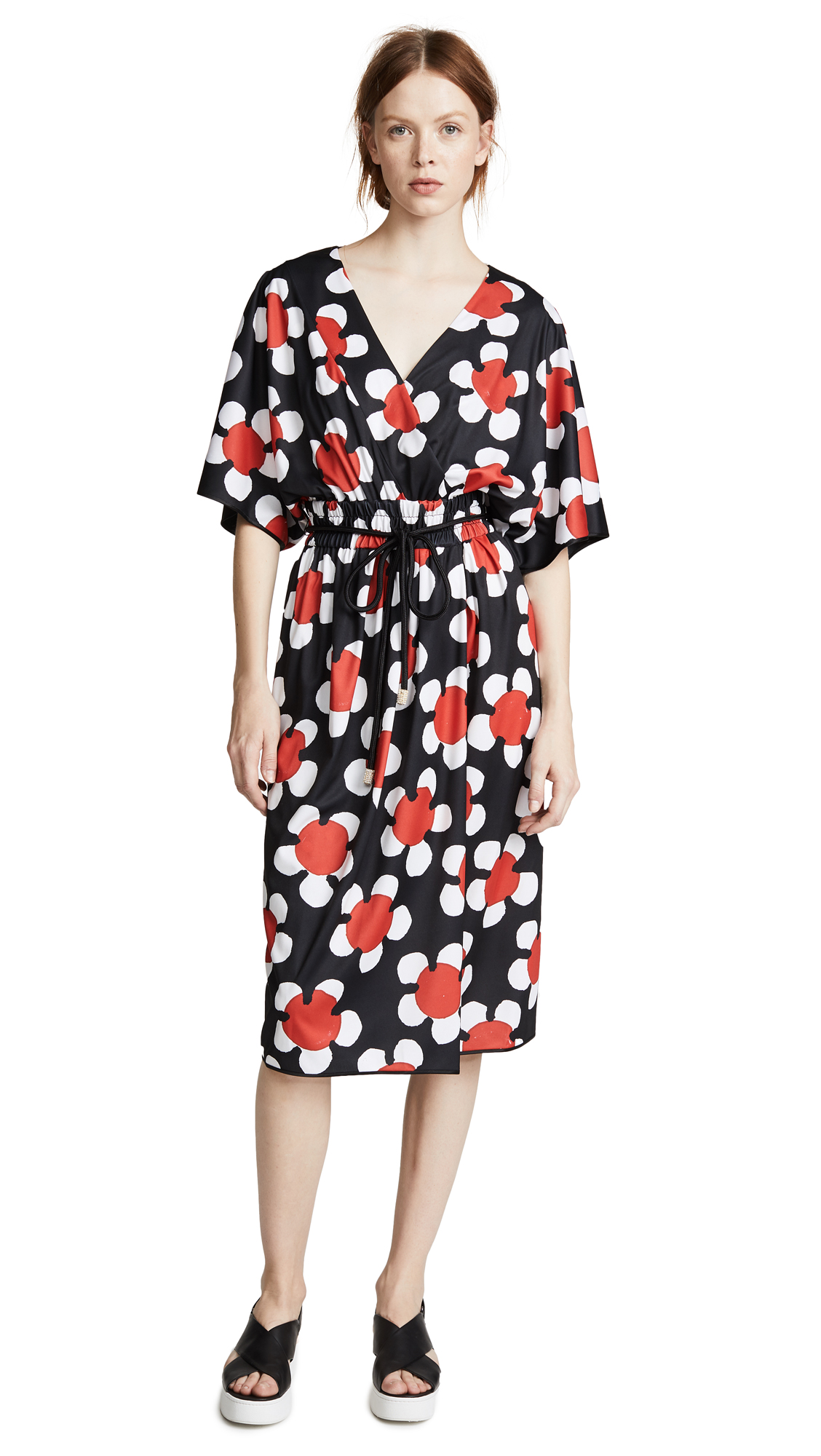 Marc Jacobs Cross Front V Neck Dress