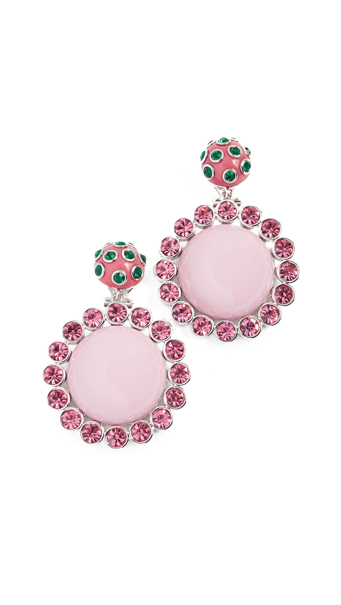 Marc Jacobs Stone Statement Earrings - Pink Multi