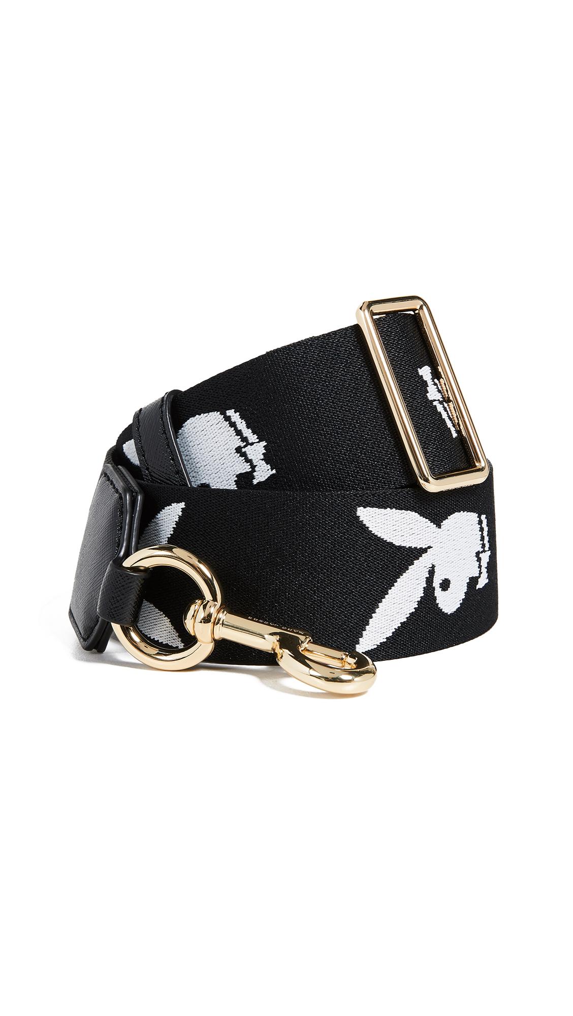 Marc Jacobs Playboy Webbing Handbag Strap In Black Multi