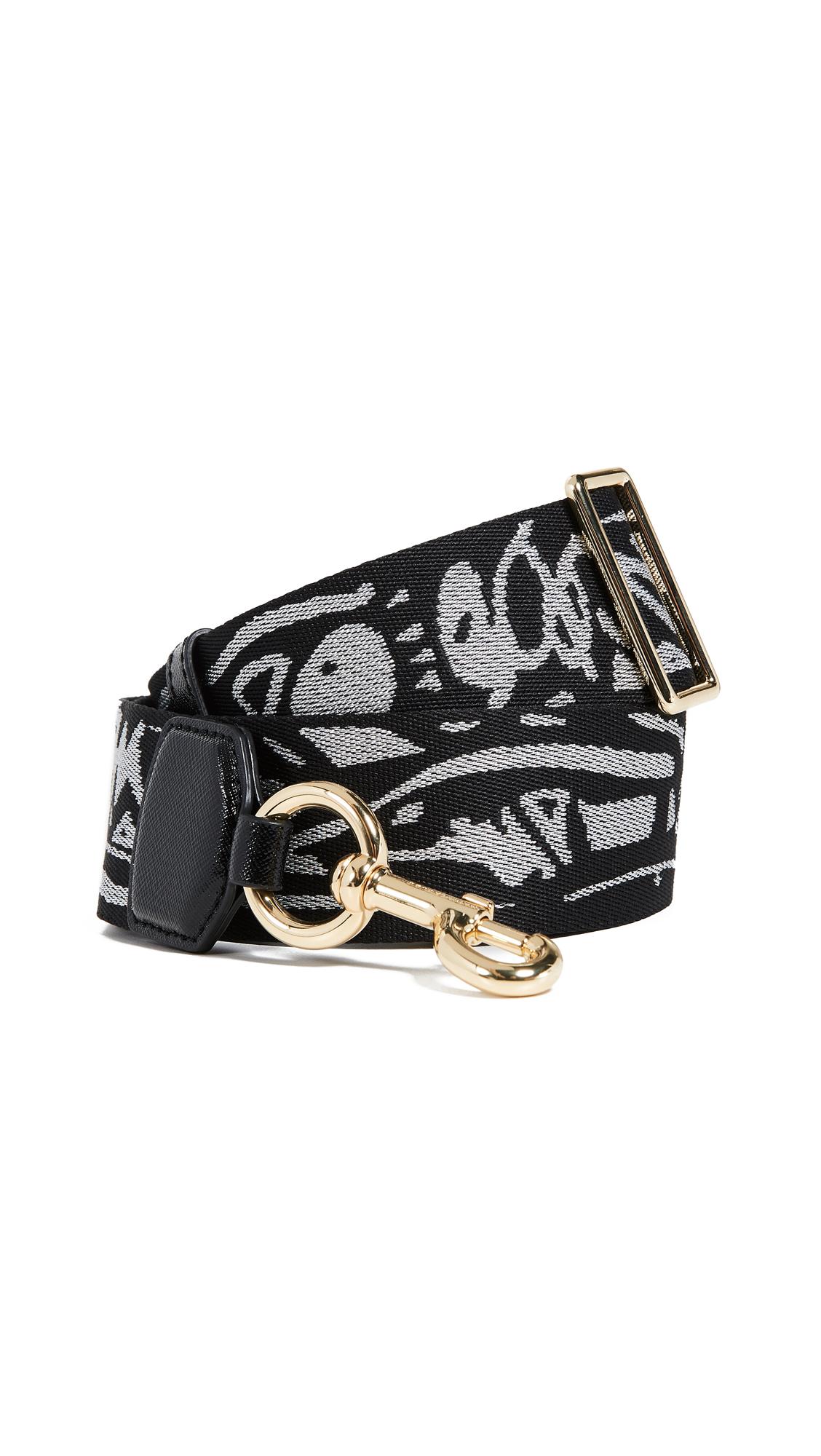 Marc Jacobs Graffiti Webbing Handbag Strap In Black Multi