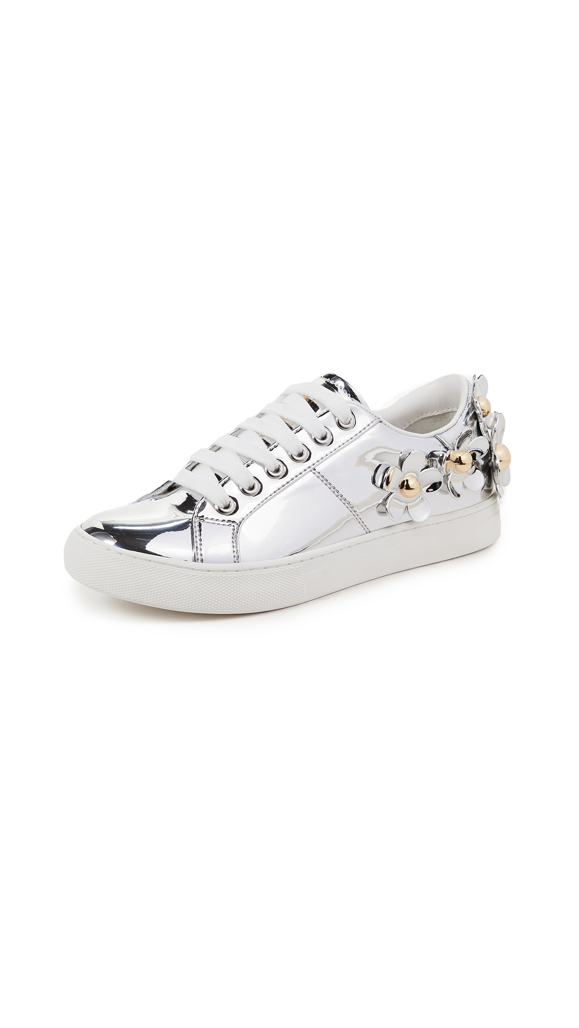 Marc Jacobs Daisy Sneakers In Silver