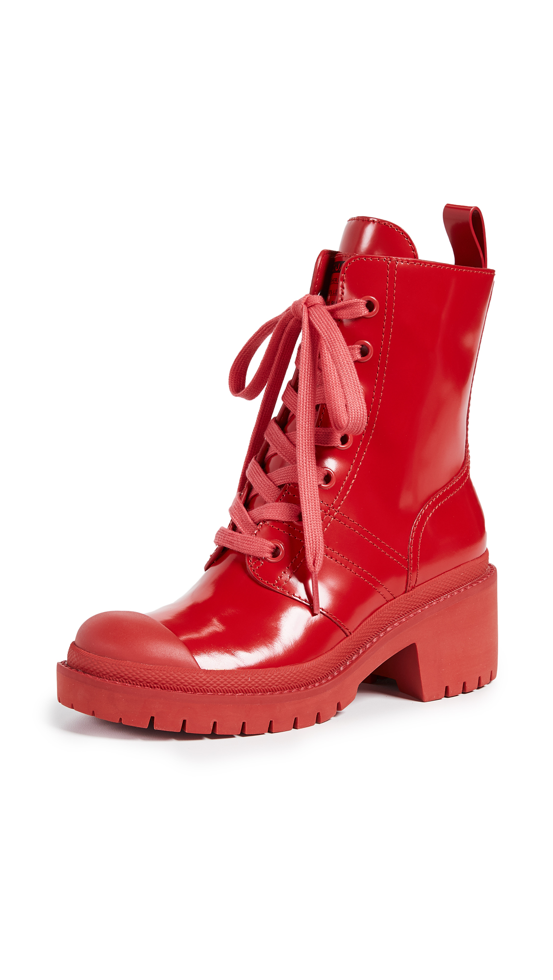 Marc Jacobs Bristol Laced Up Boots - Red