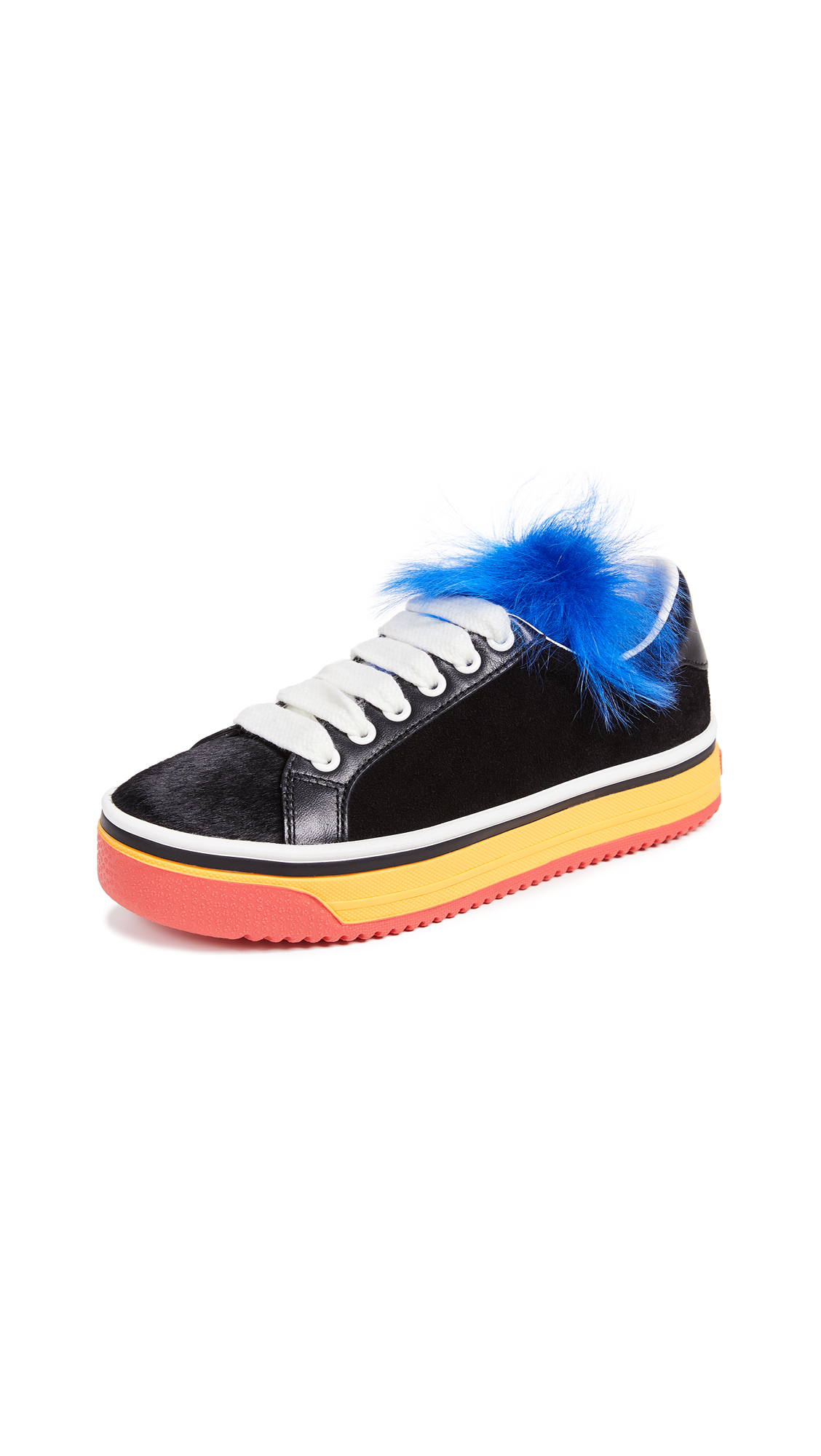 Marc Jacobs Love Empire Fur Sneakers - Black Multi