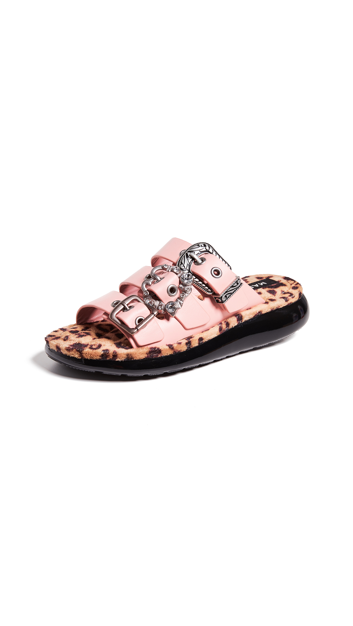 Marc Jacobs Emerson Buckle Sport Sandals - Light Pink Multi