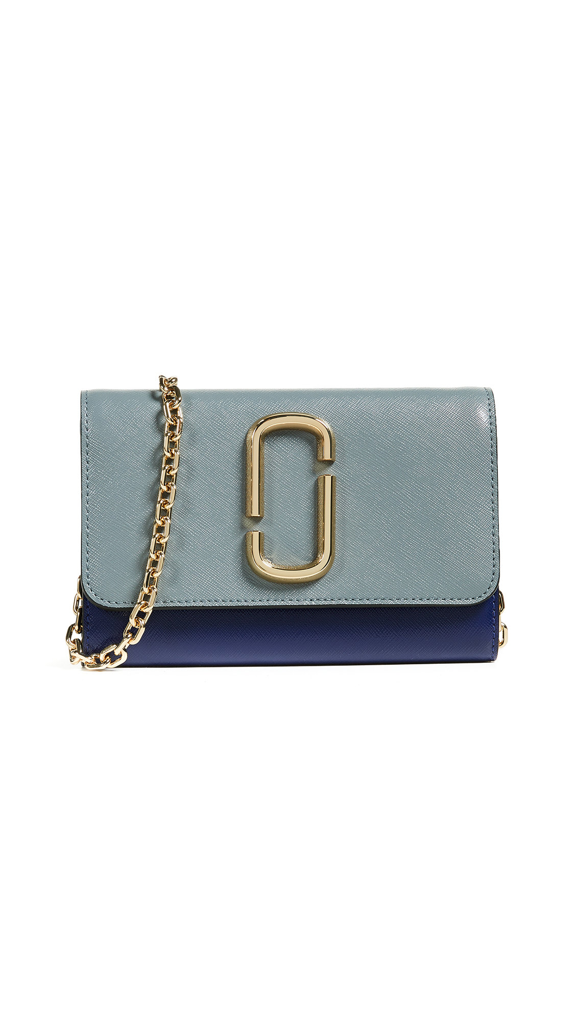 Marc Jacobs Snapshot Wallet on a Chain In Slate Multi