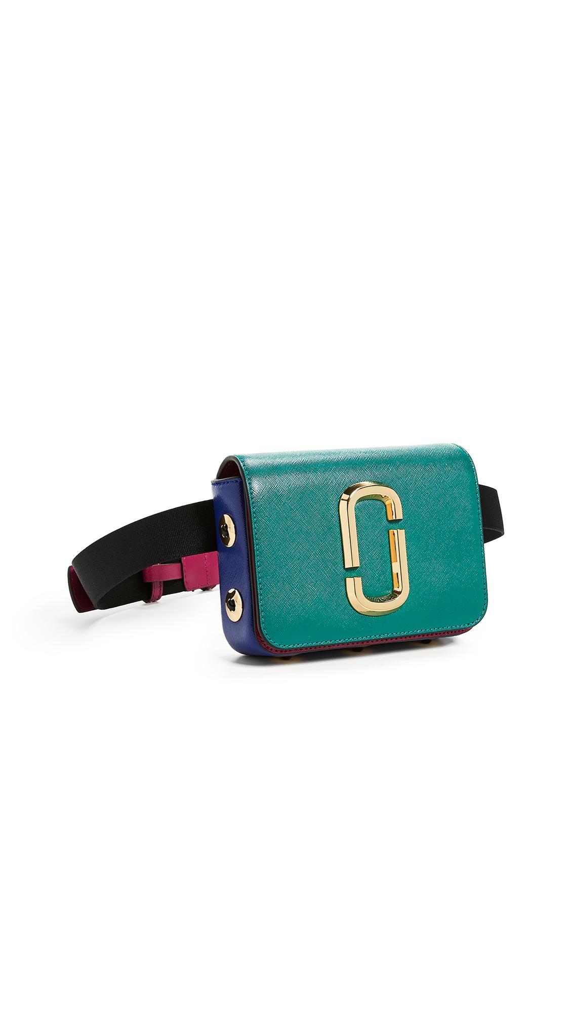 Hip Shot Buttons Convertible Belt Bag, Arugula Multi