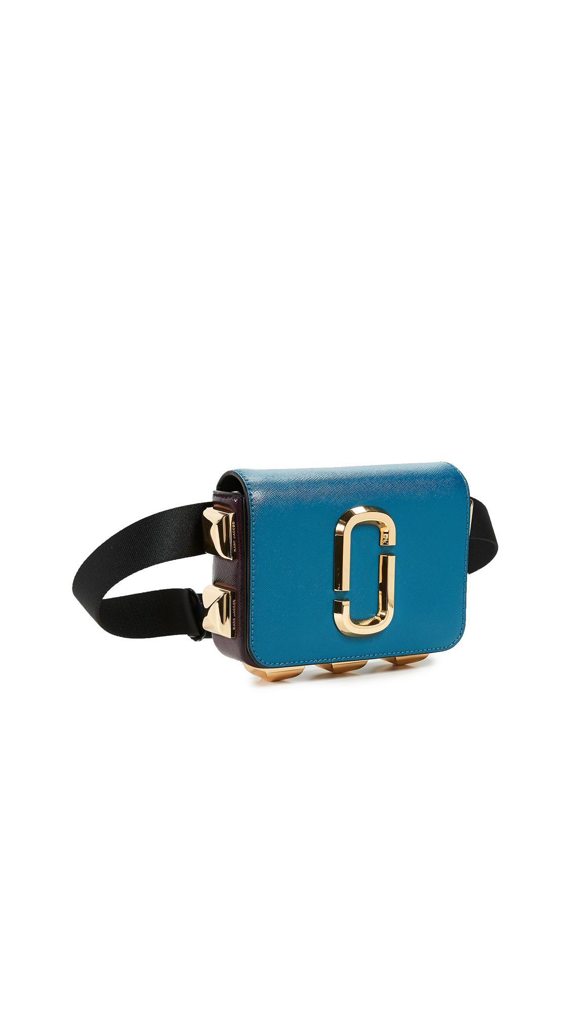 Hip Shot Studs Convertible Belt Bag, Teal Multi