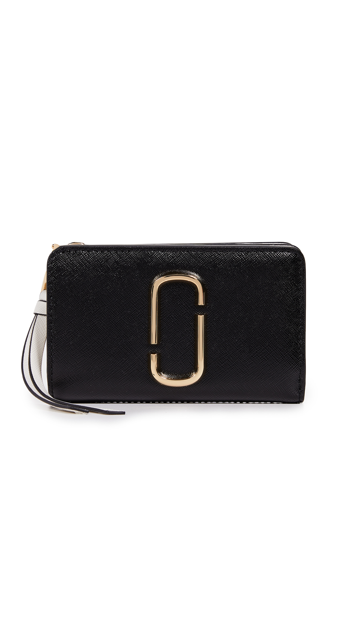 Marc Jacobs Snapshot Compact Wallet In Black Multi