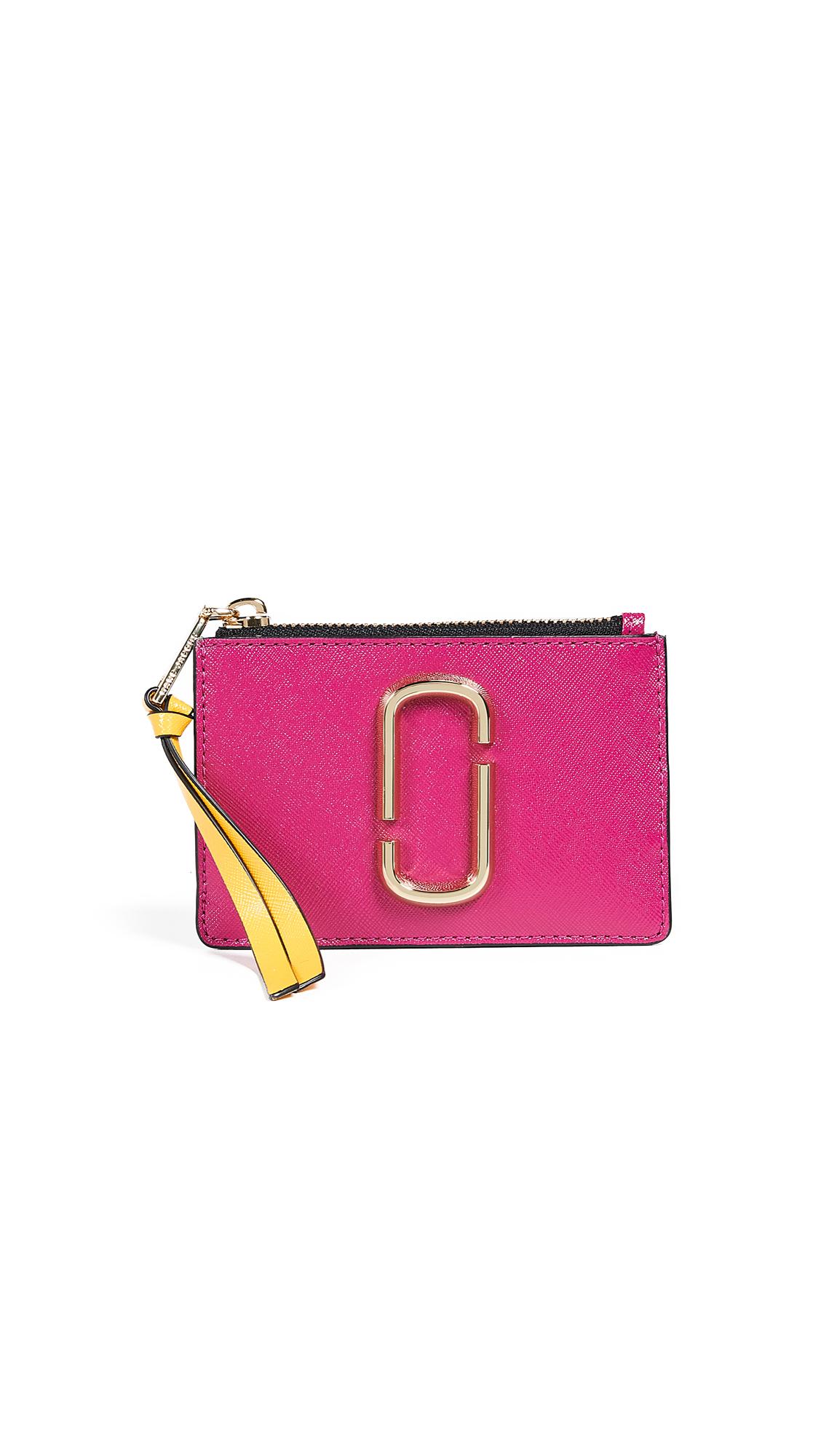 Marc Jacobs Snapshot Top Zip Multi Wallet In Magenta Multi