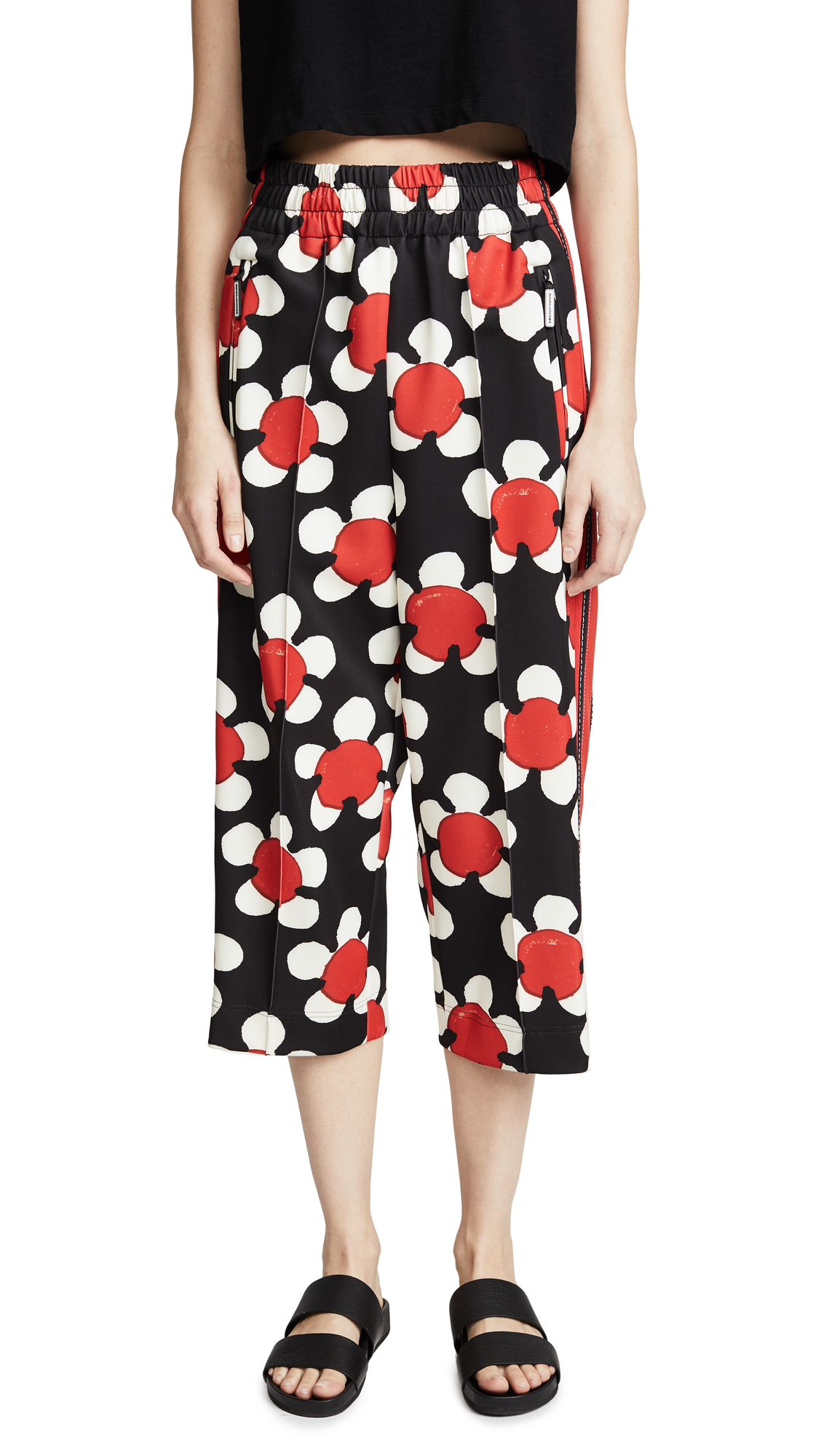 Marc Jacobs Cropped Track Pants - Red Multi