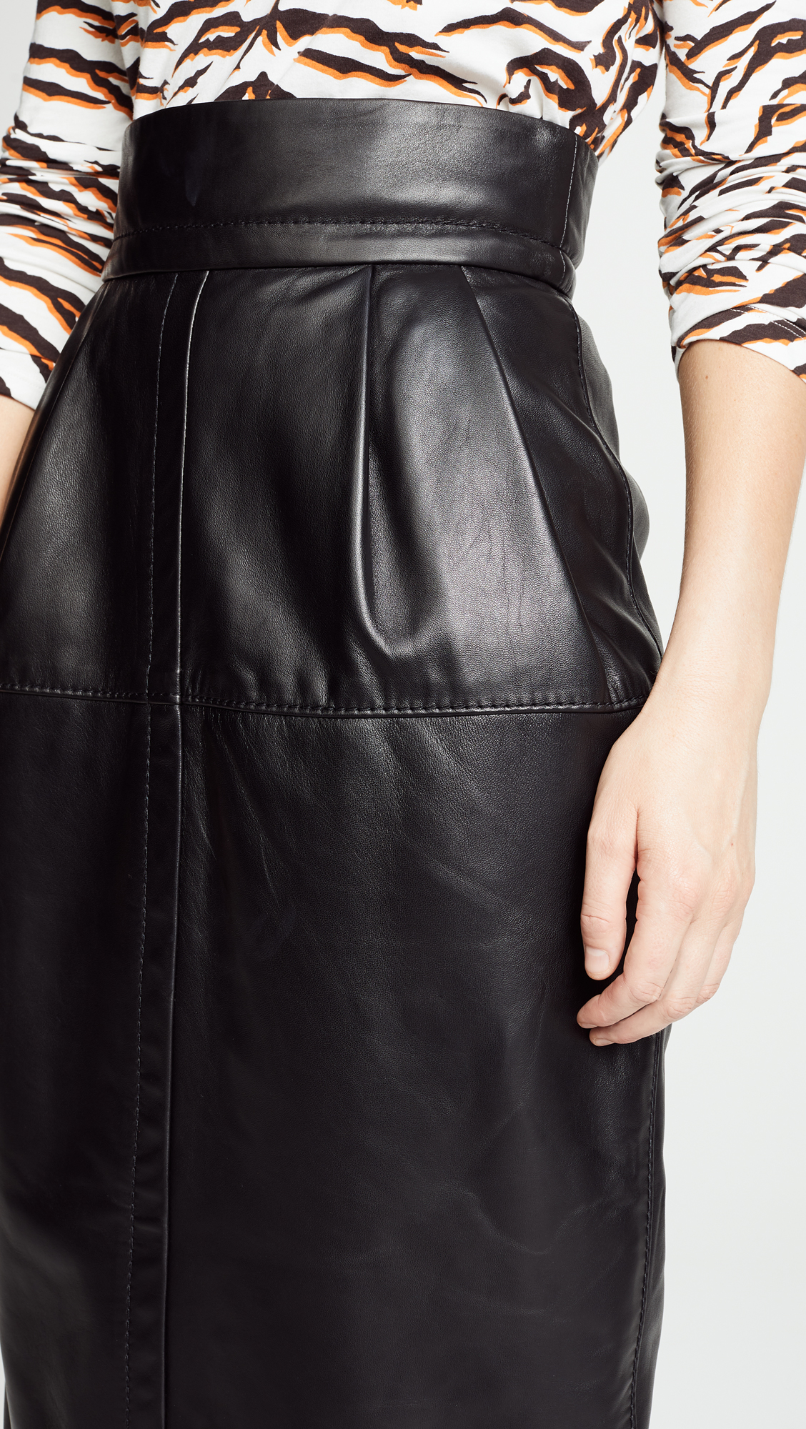 0375084e20 Marc Jacobs High Waisted Leather Skirt | SHOPBOP