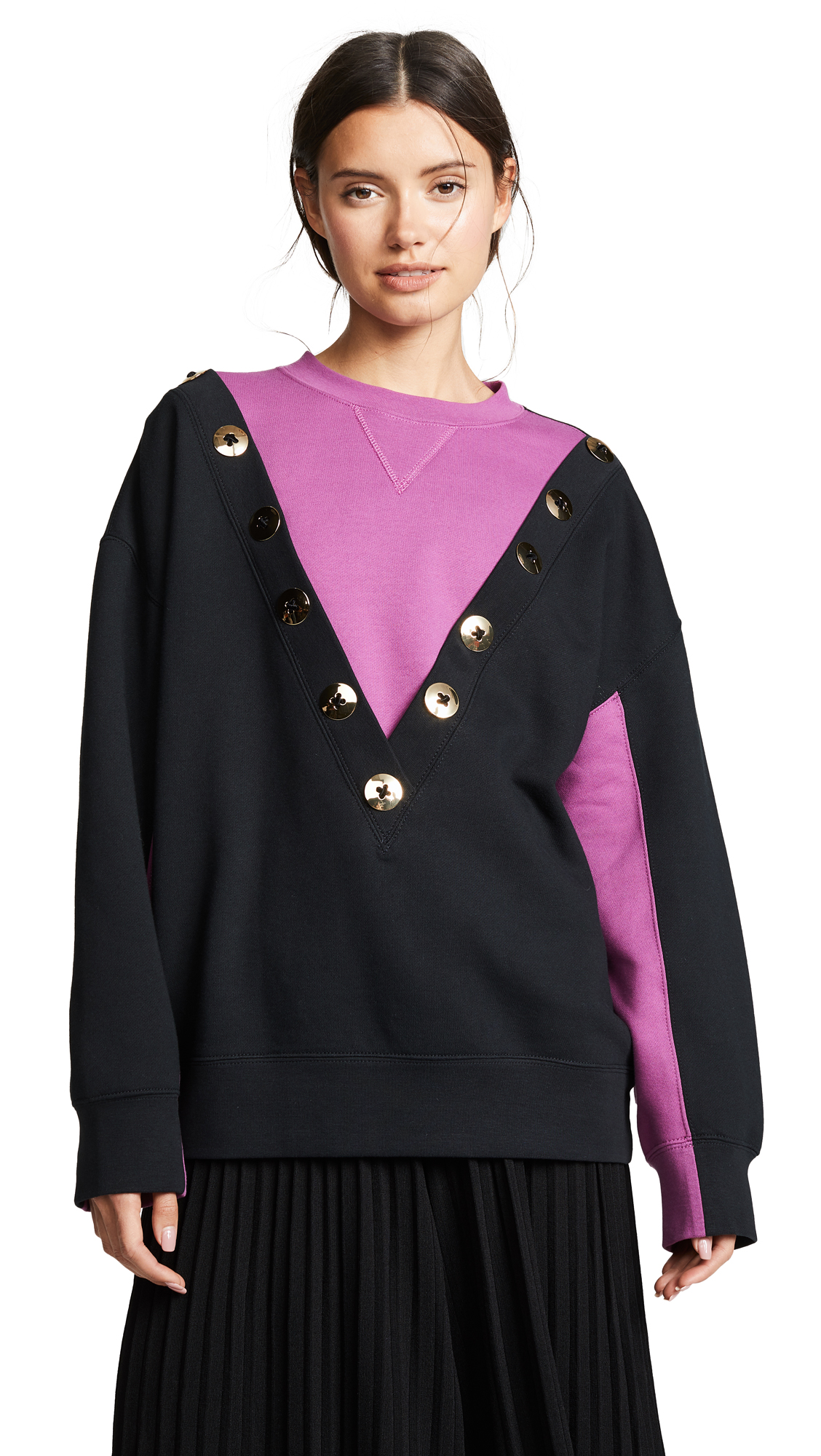Marc Jacobs Colorblock Sweatshirt In Berry