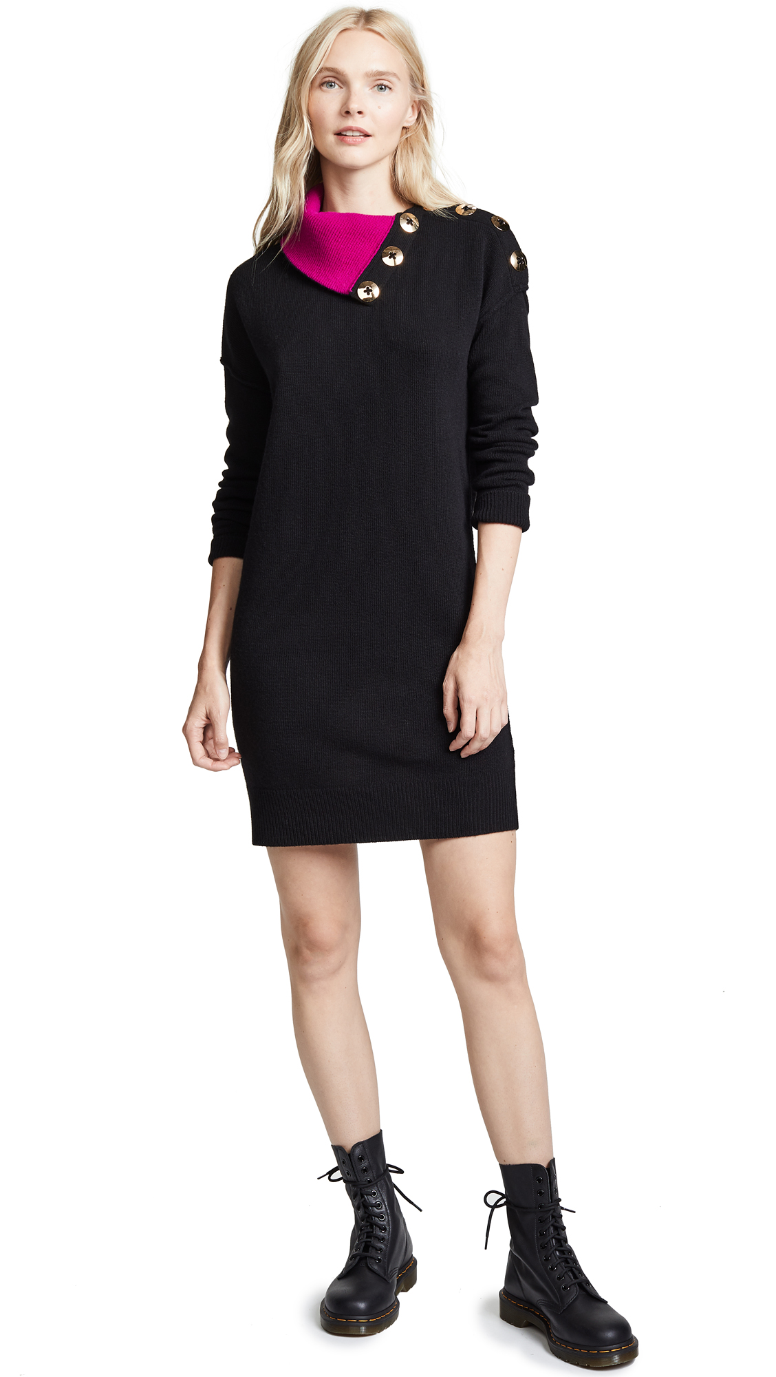 Marc Jacobs Sweater Dress In Black