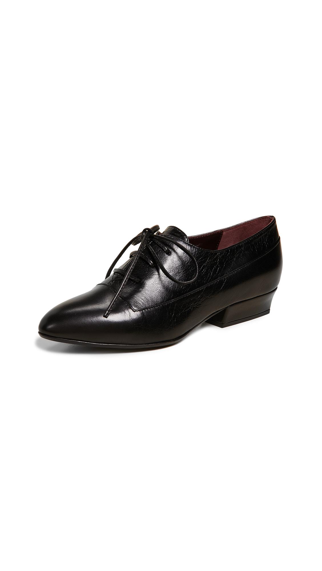 Leather Oxfords, Black