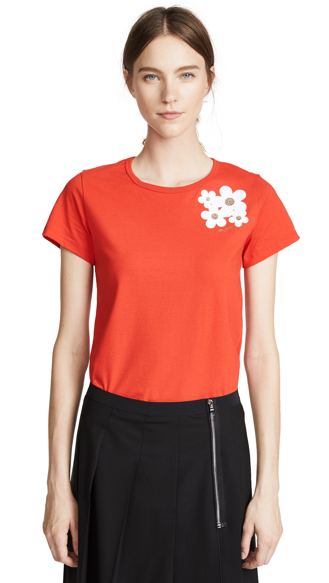 Marc Jacobs Daisy Tee In Red