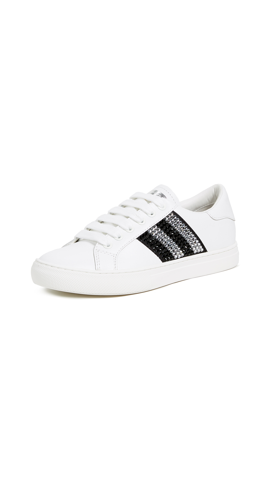 Marc Jacobs Empire Strass Low Top Sneakers - White/Black Multi