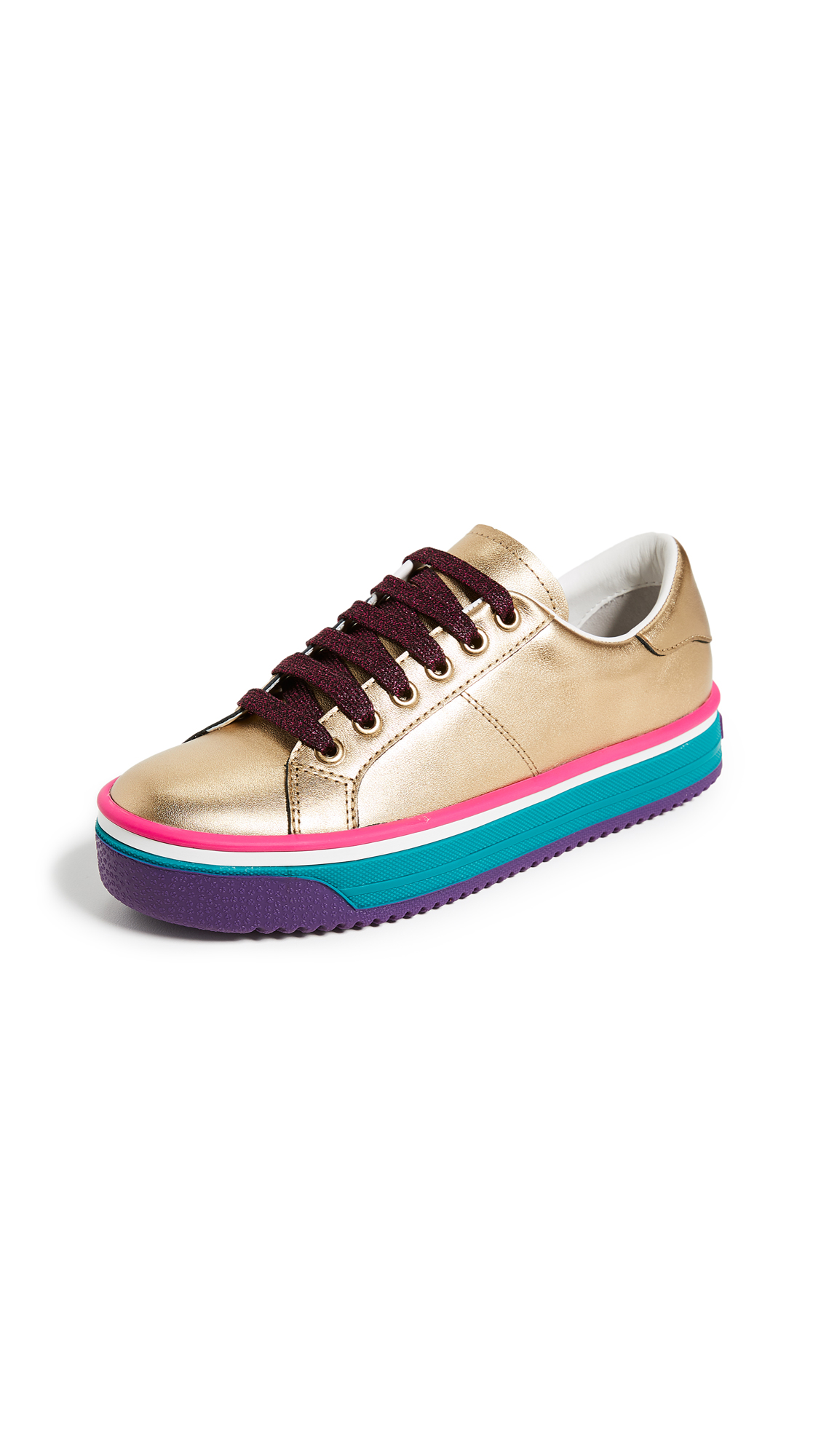 Marc Jacobs Empire Multi Color Sole Sneakers - Gold Multi