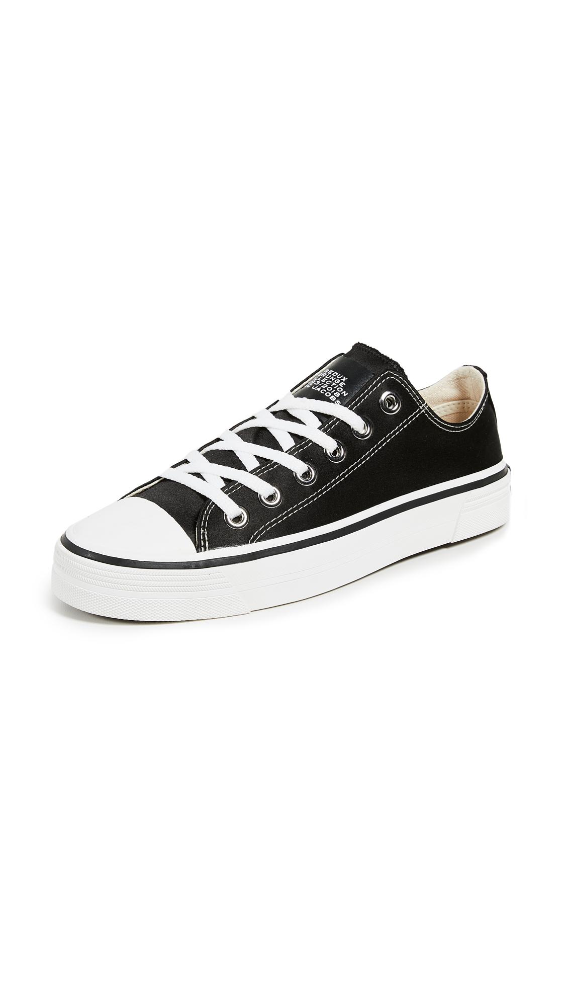 Marc Jacobs Grunge Low Top Sneakers - Black