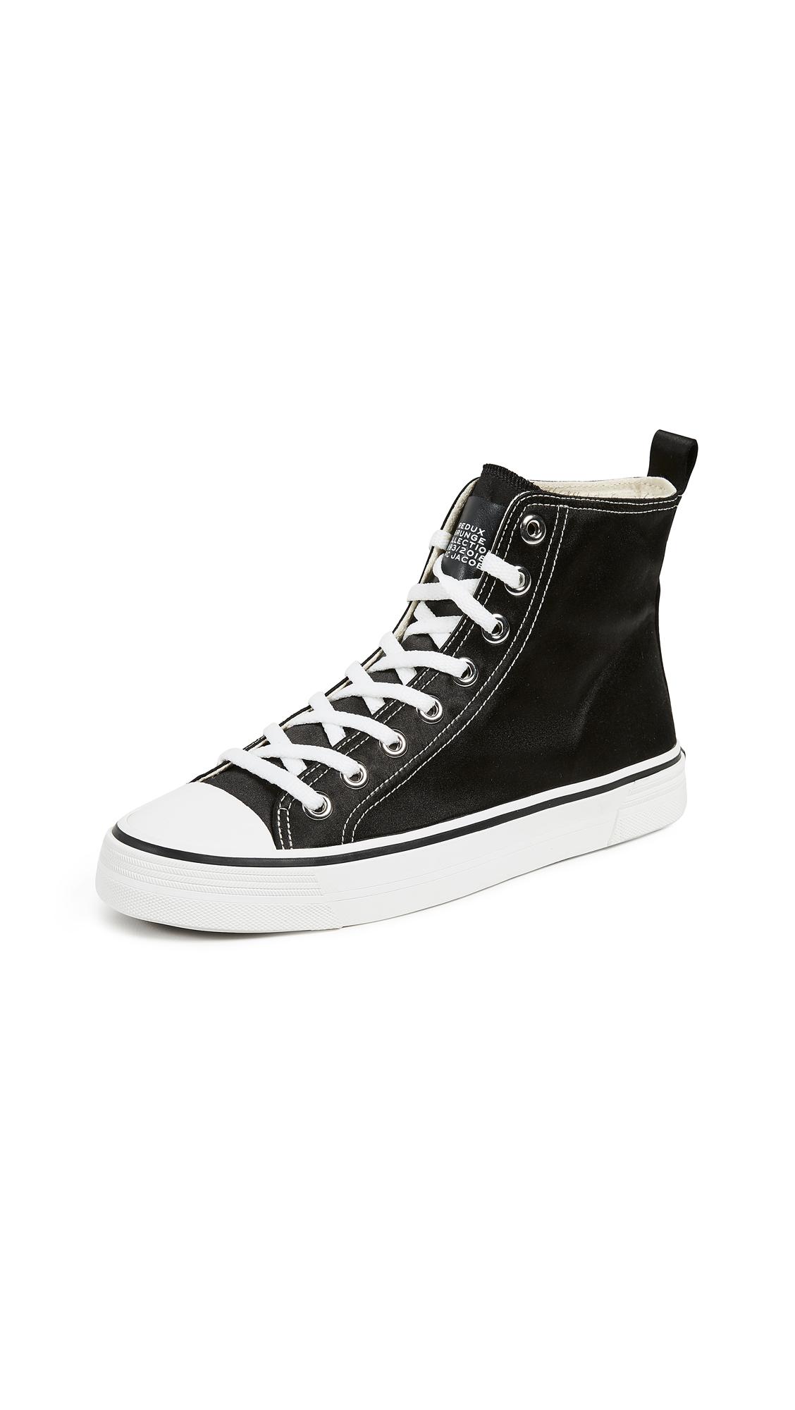 Marc Jacobs Grunge High Top Sneakers - Black
